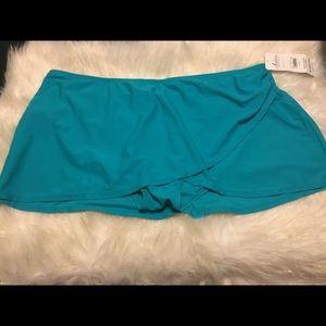 🆕 Teal Swim Bottom with Skirt • Size 3x